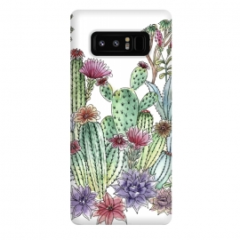 Galaxy Note 8  Cactus garden by  (cactus, cacti,watercolour,painting,ink,garden,illustration,handrawn,botanical)