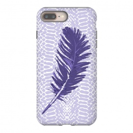 iPhone 8/7 plus  Violet feather by Julia Grifol (violet,feather,illustratio,lilac,snake)