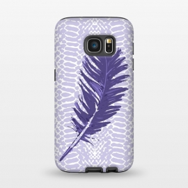 Galaxy S7  Violet feather by Julia Grifol (violet,feather,illustratio,lilac,snake)