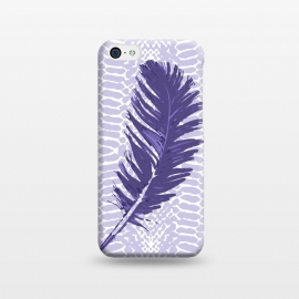 iPhone 5C  Violet feather by Julia Grifol (violet,feather,illustratio,lilac,snake)