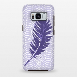 Galaxy S8+  Violet feather by Julia Grifol (violet,feather,illustratio,lilac,snake)