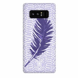 Galaxy Note 8  Violet feather by Julia Grifol