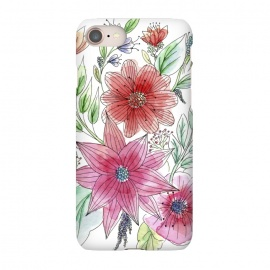 iPhone 8/7  Wild flowers by Julia Grifol (watercolour,painting,ink,flowers,floral,artistic,garden,spring,botanical)