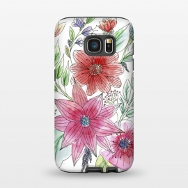 Galaxy S7  Wild flowers by Julia Grifol (watercolour,painting,ink,flowers,floral,artistic,garden,spring,botanical)