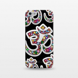iPhone 5/5E/5s  Namaste Floral Yoga Symbol  by BluedarkArt
