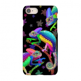 iPhone 8/7  Chameleon Fantasy Rainbow Colors by BluedarkArt