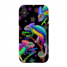 iPhone Xs / X  Chameleon Fantasy Rainbow Colors by