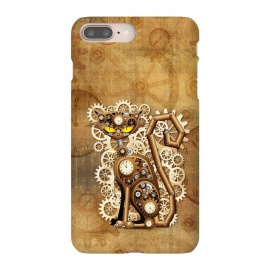 iPhone 8/7 plus  Steampunk Cat Vintage Style by