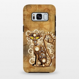 Galaxy S8 plus  Steampunk Cat Vintage Style by