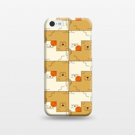 iPhone 5C  Cat and Dog by Coffee Man (cat, dog, cats, dogs, pet, pets, animals, animal lover, kitty, fun, funny, cute, adorable, puzzle)