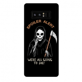 Galaxy Note 8  Spoiler Alert by Coffee Man (spoiler, skull, dead, death, fun, funny, humor, metal, evil,horror)