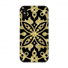 iPhone X  Black and Gold Fashion Case by Alemi
