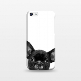 iPhone 5C  Black and White French Bulldog by Alemi