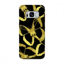 Galaxy S8  Black and Gold Butterflies by Alemi