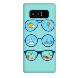 Galaxy Note 8  Sunglasses Landscape by Coffee Man