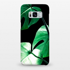 Galaxy S8+  Green Monstera Leaves by Alemi