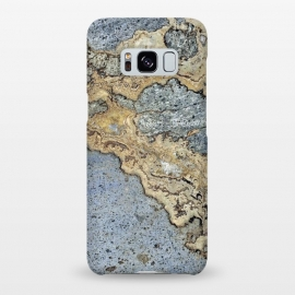Galaxy S8+  Blue and Gold Marble by Alemi