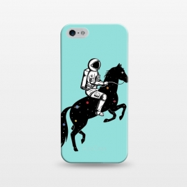 iPhone 5/5E/5s  Astronaut and Horse 2 by Coffee Man (astronaut, space man,galaxy,universe,horse,animal,animals lover, pet,nasa,space,creative)