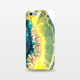 iPhone 5/5E/5s  Blue and Yellow Agate by