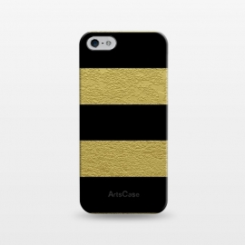 iPhone 5/5E/5s  Black and Gold Stripes by