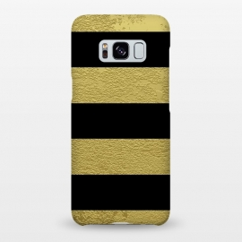 Galaxy S8+  Black and Gold Stripes by Alemi