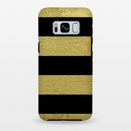 Black and Gold Stripes by Alemi
