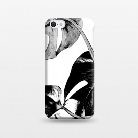 iPhone 5C  Black Monstera Leaves by Alemi