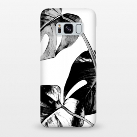 Galaxy S8+  Black Monstera Leaves by Alemi