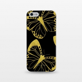 iPhone 5/5E/5s  Gold Butterflies by
