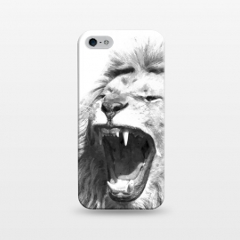 iPhone 5/5E/5s  Black and White Fierce Lion by Alemi