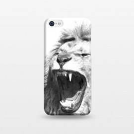 iPhone 5C  Black and White Fierce Lion by Alemi