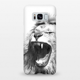 Galaxy S8+  Black and White Fierce Lion by Alemi