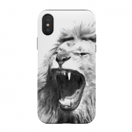 Black and White Fierce Lion by Alemi