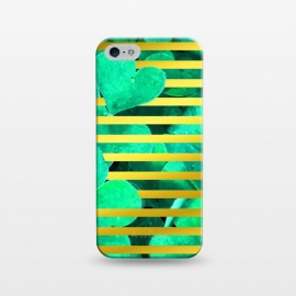 iPhone 5/5E/5s  Clover and Gold Stripes Geometric Illustration by Alemi