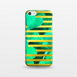 iPhone 5C  Clover and Gold Stripes Geometric Illustration by Alemi