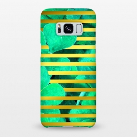 Galaxy S8+  Clover and Gold Stripes Geometric Illustration by Alemi