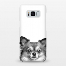 Galaxy S8+  Black and White Chihuahua Portrait by Alemi