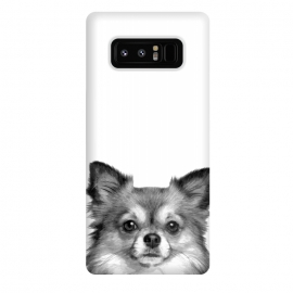 Galaxy Note 8  Black and White Chihuahua Portrait by Alemi