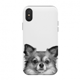 iPhone Xs / X  Black and White Chihuahua Portrait by