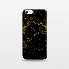 iPhone 5C  Black and Gold Marble by Alemi