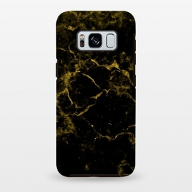 Galaxy S8+  Black and Gold Marble by Alemi