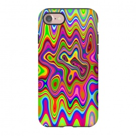 iPhone 8/7  Psychedelic Glowing Colors Pattern by BluedarkArt