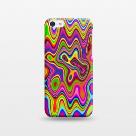 iPhone 5C  Psychedelic Glowing Colors Pattern by BluedarkArt