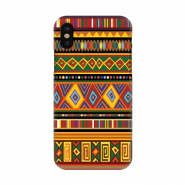 iPhone X  Ethnic Colorful Pattern Africa Art by BluedarkArt