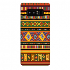 Galaxy Note 8  Ethnic Colorful Pattern Africa Art by BluedarkArt