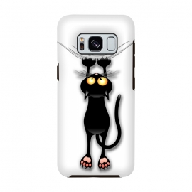 Galaxy S8  Fun and Naughty Cat Falling Down  by BluedarkArt