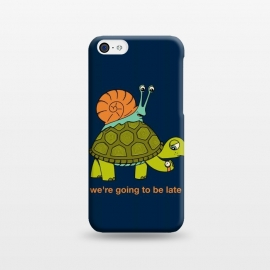 iPhone 5C  Turtle and Snail by Coffee Man (turtle, snail, animals, animal, pet, pet lover, animals lover, cute, adorable, velocity, time, nature, wild, fun, funny)