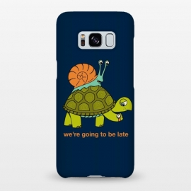 Galaxy S8+  Turtle and Snail by Coffee Man (turtle, snail, animals, animal, pet, pet lover, animals lover, cute, adorable, velocity, time, nature, wild, fun, funny)