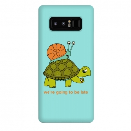 Galaxy Note 8  Turtle and Snail-2 by Coffee Man (turtle, snail, pet, pets, animal, animals, cute, adorable, fun, funny, humor, wild, time, velocity, racing)