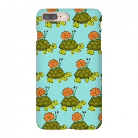 iPhone 8/7 plus  Turtle and Snail Pattern by Coffee Man